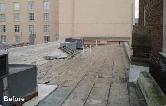 Metal Roof Before Repair