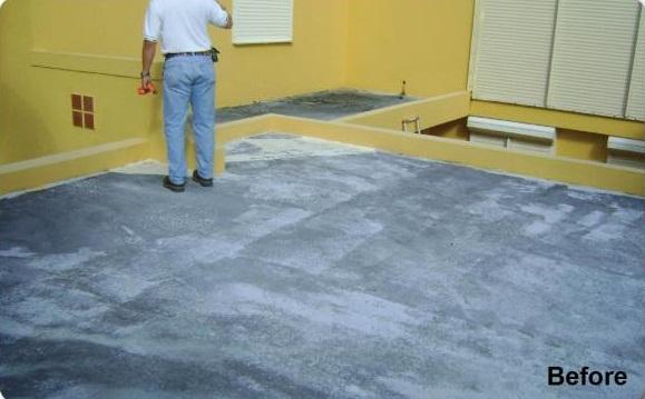 Concrete Roof Before Repair