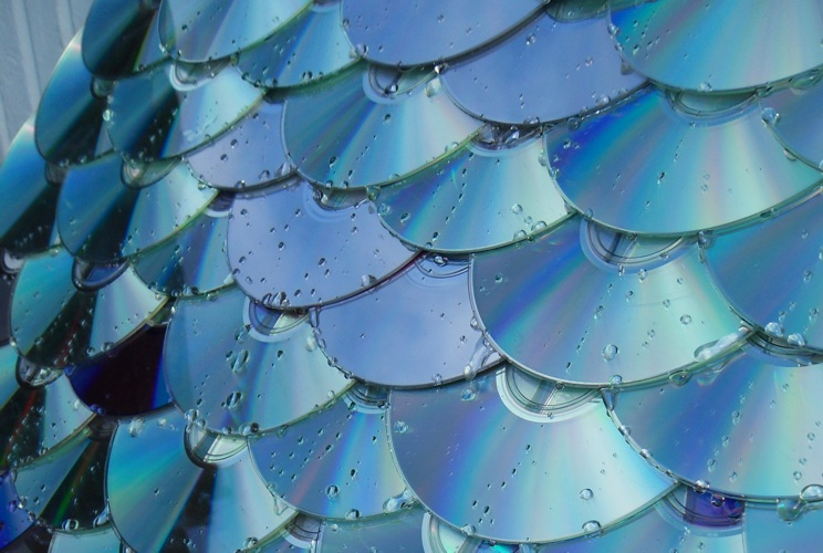 CDs as roof shingles