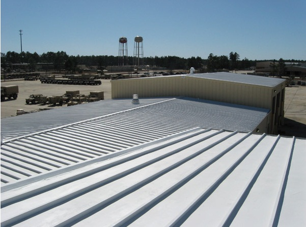 Roof coating services for commercial buildings