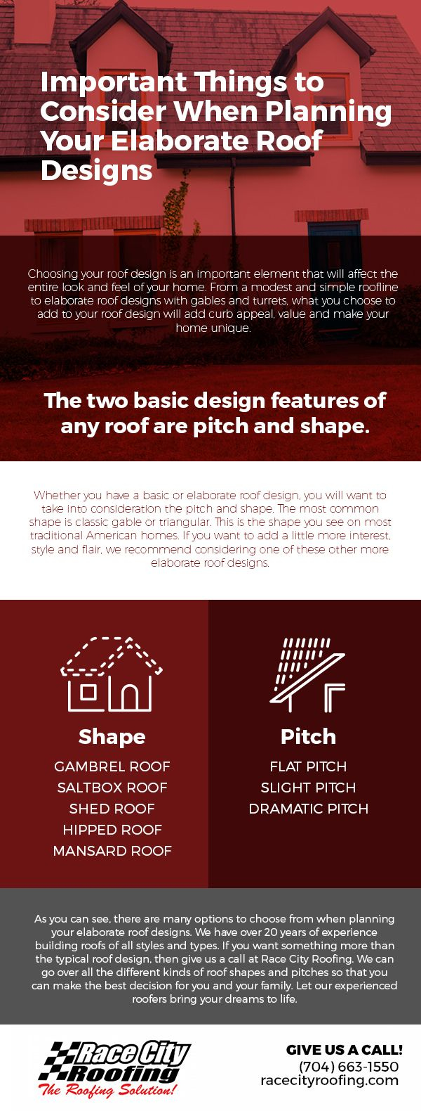 Important Things to Consider When Planning Your Elaborate Roof Designs [infographic]